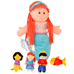 Little Mermaid Hand and Finger Puppet Set